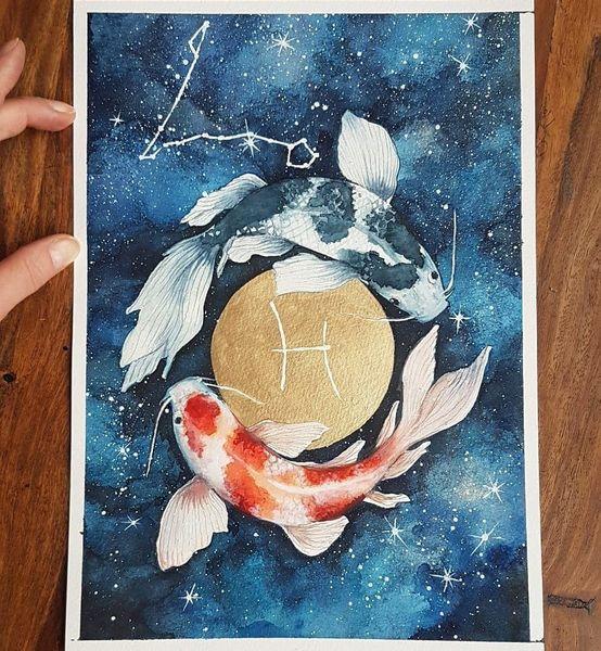 Tiere, Sternhimmel, Sternzeichen, Fische, Horoskop, Fishs
