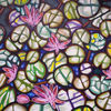 Seerosenteich, Blätter, Blüte, Malerei