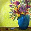 Blumen, Blüte, Stillleben, Mischtechnik