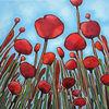 Mohn, Mohnblumen, Blumen, Malerei