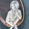Traum, Frau, Sitzen, Zeichnungen