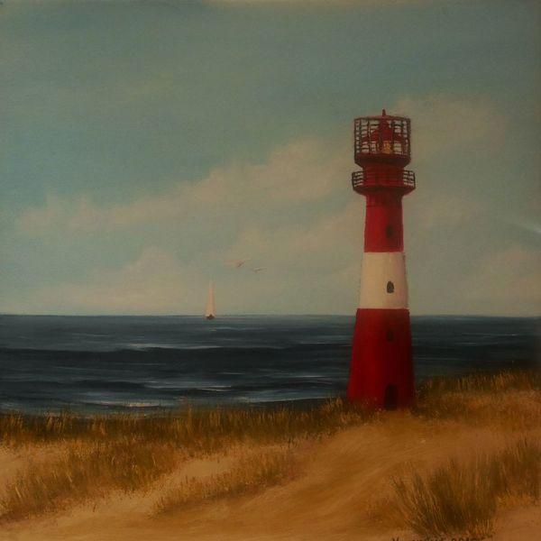 Leuchtturm, Meer, See, Malerei