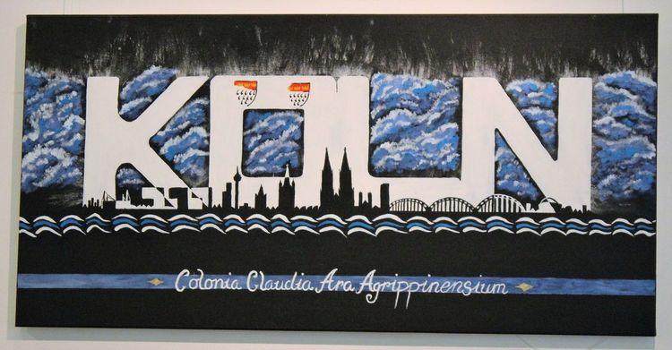 Köln, Schwarz, Blau, Malerei