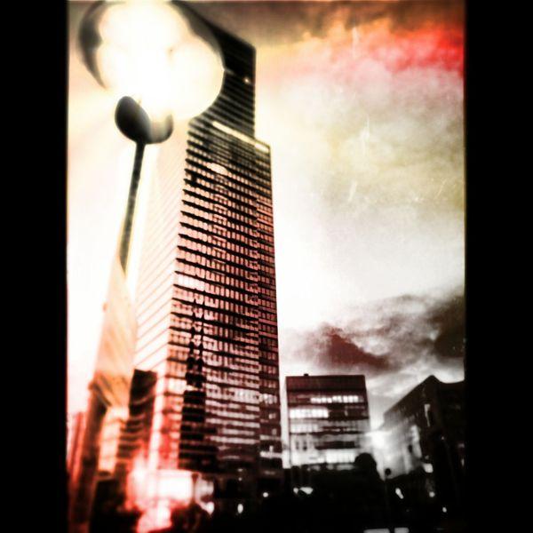 Gebäude, Mediapark, Himmel, Stadt, Lampe, Farben