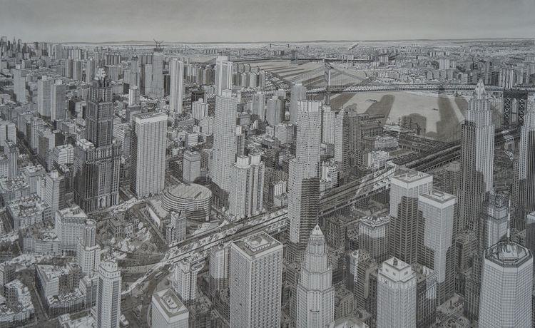 Realismus, Usa, New york, Stadt, Brücke, Licht