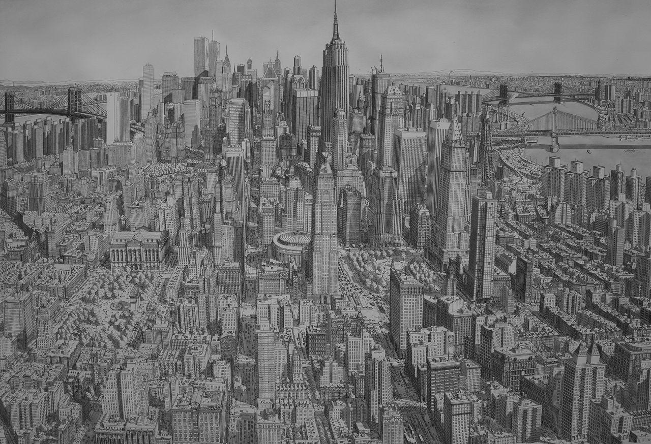 Bild Stadt Architektur Wasserfarben Amerika Von Stefan Bleekrode Bei Kunstnet