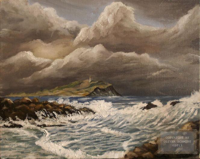 Sturm, Hiddensee, Himmel, Gewitter, Leuchtturm, Wind