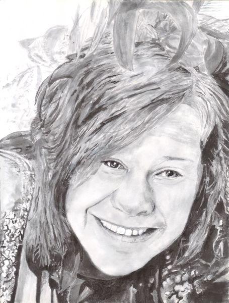 Lachen, Zeichnung, Blick, Tusche, Grau, Schwarz weiß