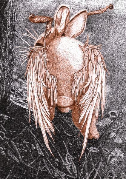 Ohr, Horn, Tiere, Fabelwesen, Flügel, Zeichnungen