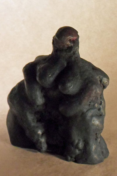 Ton, Schwarz, Frau, Plastik, Figur