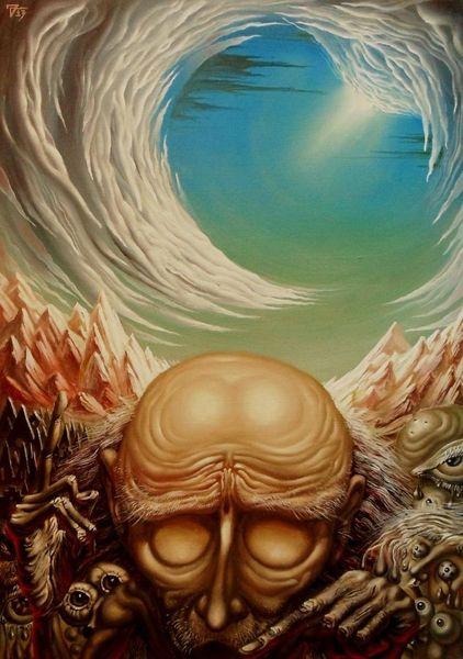 Dämon, Malerei, Einsamkeit, Surreal, Philosoph, Ölmalerei