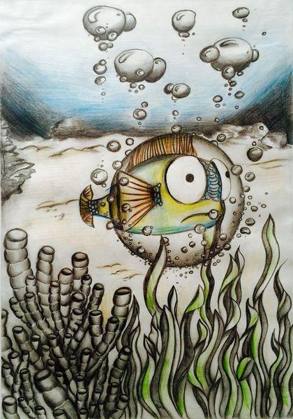 Wasser, Fisch, Unterwasser, Kreativ, Meer, Zeichnung