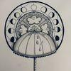 Regenschirm, Mandala, Tuschmalerei, Wetter