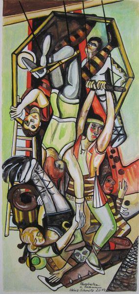 Klassisch, Modern, Akrobaten, Malerei, 2014,