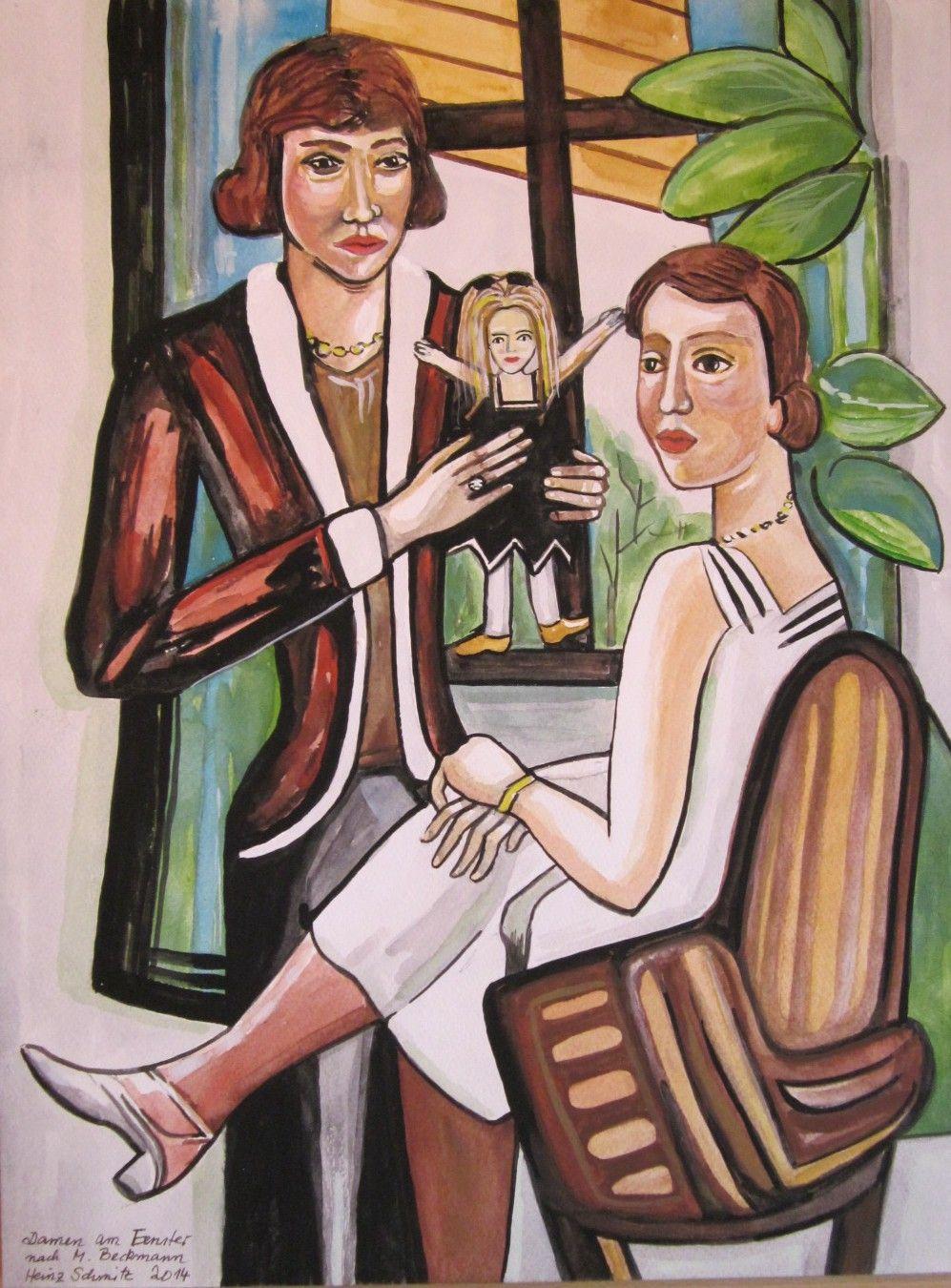 Bild klassische moderne heinz schmitz malerei menschen for Klassische moderne