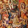 Acrylmalerei, Menschen, Malerei,