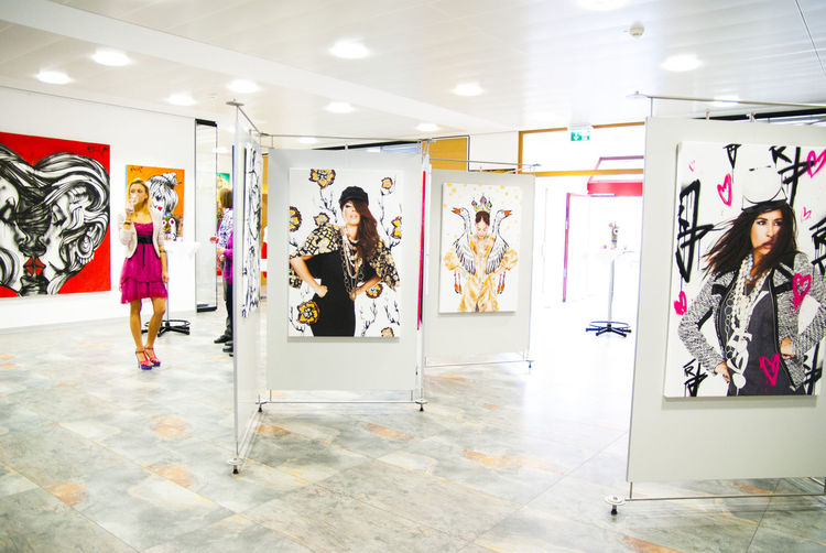 Blumen, Frau, Ausstellung, Leben, Malerei, Leuchtend