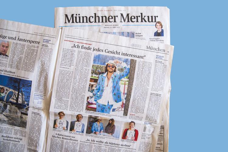 Farben, Der millionen maler, A pink life, The million painter, Portrait, Pinnwand