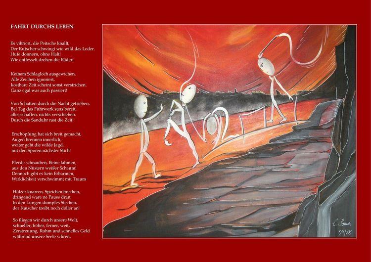 Rot, Interpretation, Gedicht, Erschöpfung, Malerei, Leben