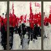 Abstrakt, Triptychon, Struktur, Stadt