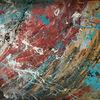 Abstrakt, Feuerwerk, Malerei,