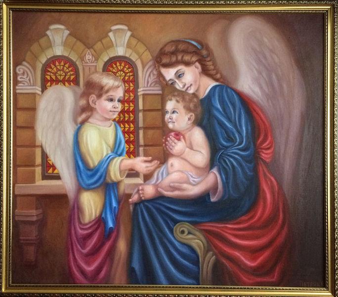 Fürsorge, Verständnis, Engel, Frieden, Kind spiel, Liebe
