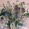 Kornblumen, Blumenstrauß, Pflanzen, Aquarell