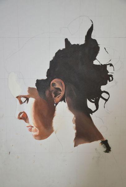 Portrait, Briefleserin, Frau, Ohrringe, Malerei