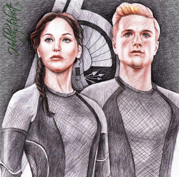 Victors, Peeta, Hunger games, Katniss, Zeichnungen, Hunger