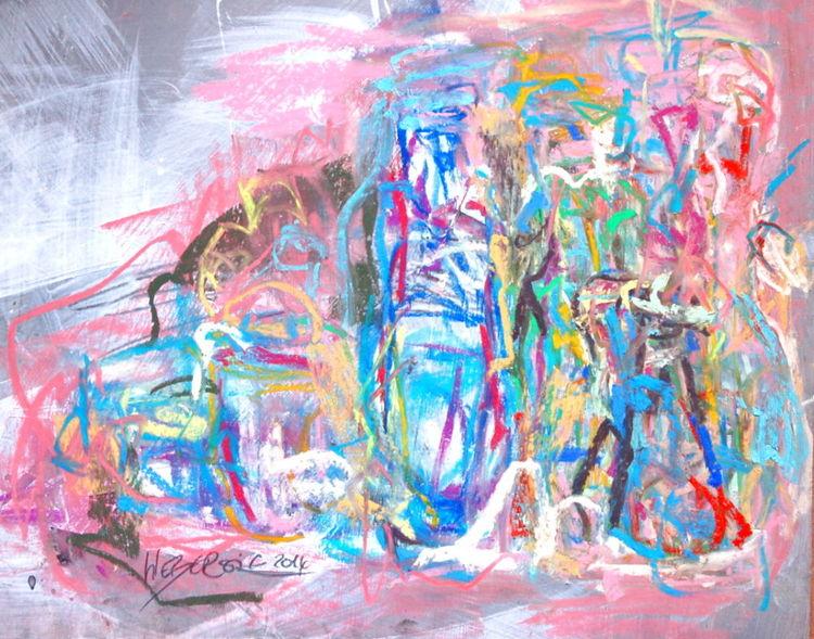 Grün, Zeichnung, Pastellmalerei, Alltag, Blau, Rot
