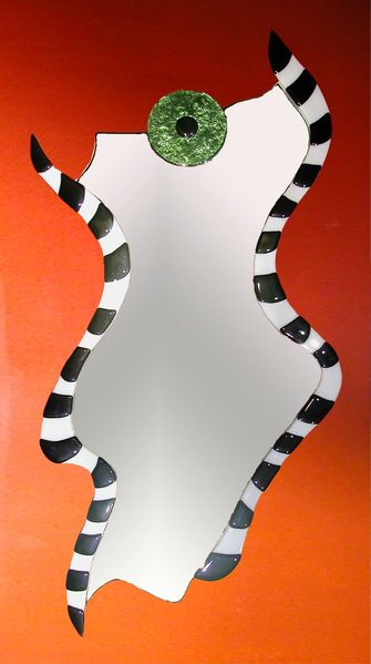 Spiegel, Design, Glas, Glasspiegel, Abstrakt, Modern