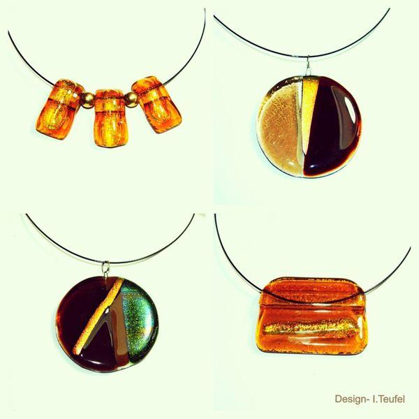 Halsschmuck, Glas, Modern, Schmuck, Design, Kunsthandwerk