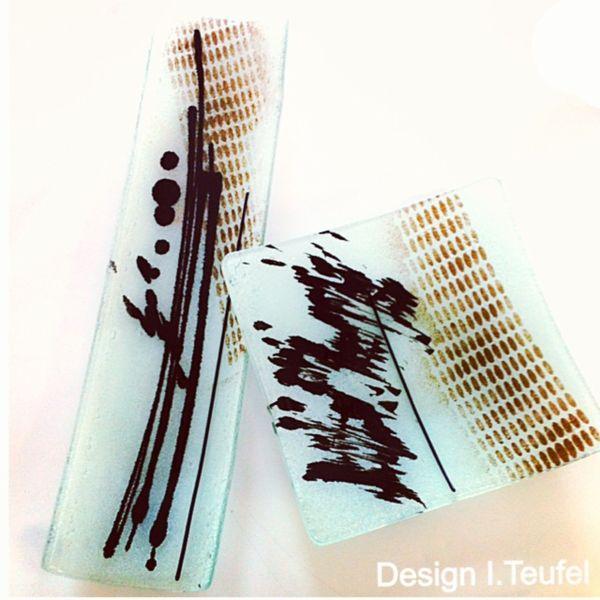 Glas, Modern, Design, Glasschale, Abstrakt, Kunsthandwerk