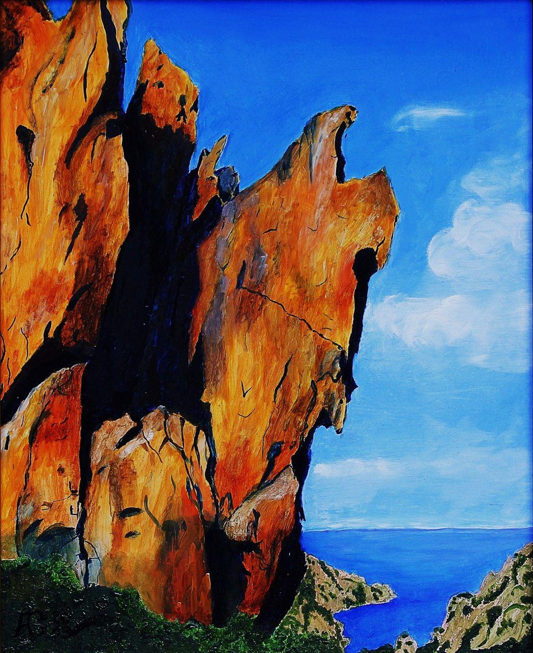 Mobel Frankreich Malerei : Bild frankreich korsika felsen malerei landschaften von