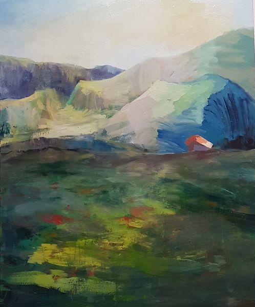 Berge, Landschaft, Natur, Malerei