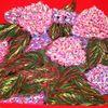 Grell, Hortensien, Rot, Pflanzen