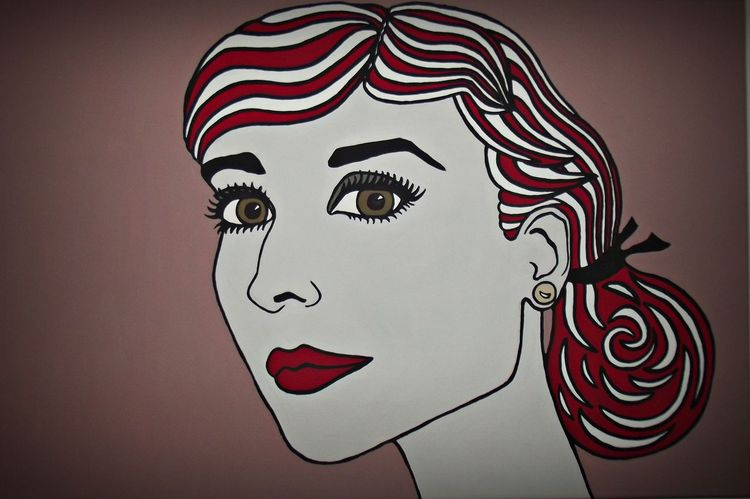 Portrait, Acrylmalerei, Pop art, Malerei