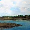Stimmung, Landschaft, Gewitter, Fluss