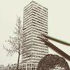 Schwarz weiß, Hochhaus, Bauwerke, Federzeichnung