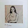 Mädchen, Frau, Federzeichnung, Portrait