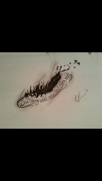 Feder Feder Tattoo Vorlage Zeichnungen Feder Von Cubito Bei Kunstnet