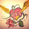 Flügel, Herz, Tattoo vorlage, Zeichnungen