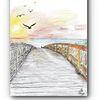 Meer, Strand, Sonnenuntergang, Zeichnungen