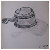 Zeichnung, Stillleben, Kohlezeichnung, Zeichnungen