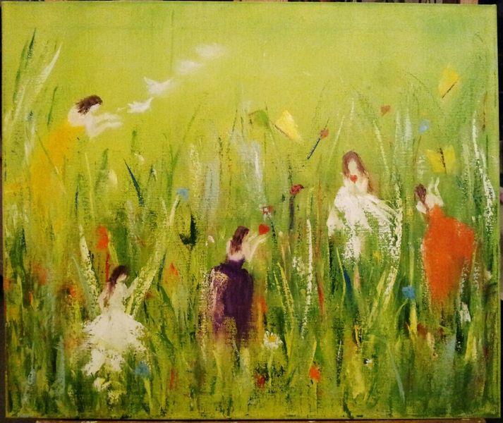 Schmetterling, Ölmalerei, Natur, Blätter, Kleid, Malerei