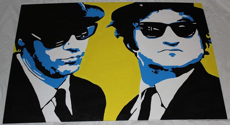 Blues brothers, Pop art, Malerei, Portrait, Blues, Pop