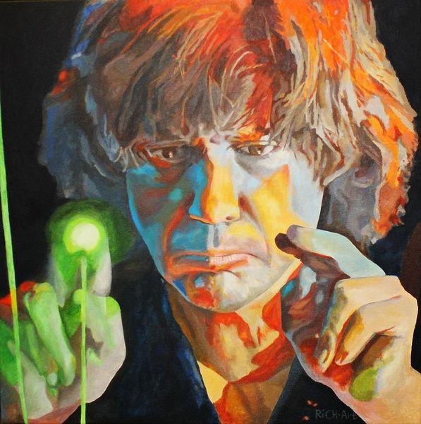 Jean michel jarre, Portrait, Malerei