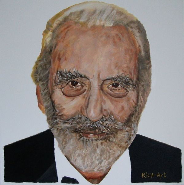 Christopher lee, Dracula, Count dooku, Malerei, Portrait,