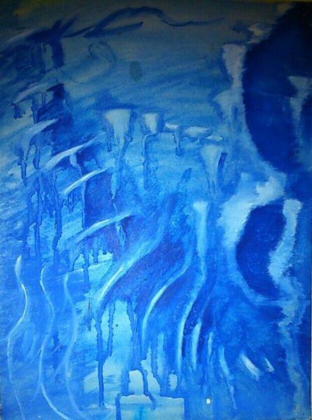 Blau, Höhle, Malerei