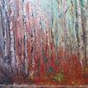 Birken, Wald, Modern, Malerei